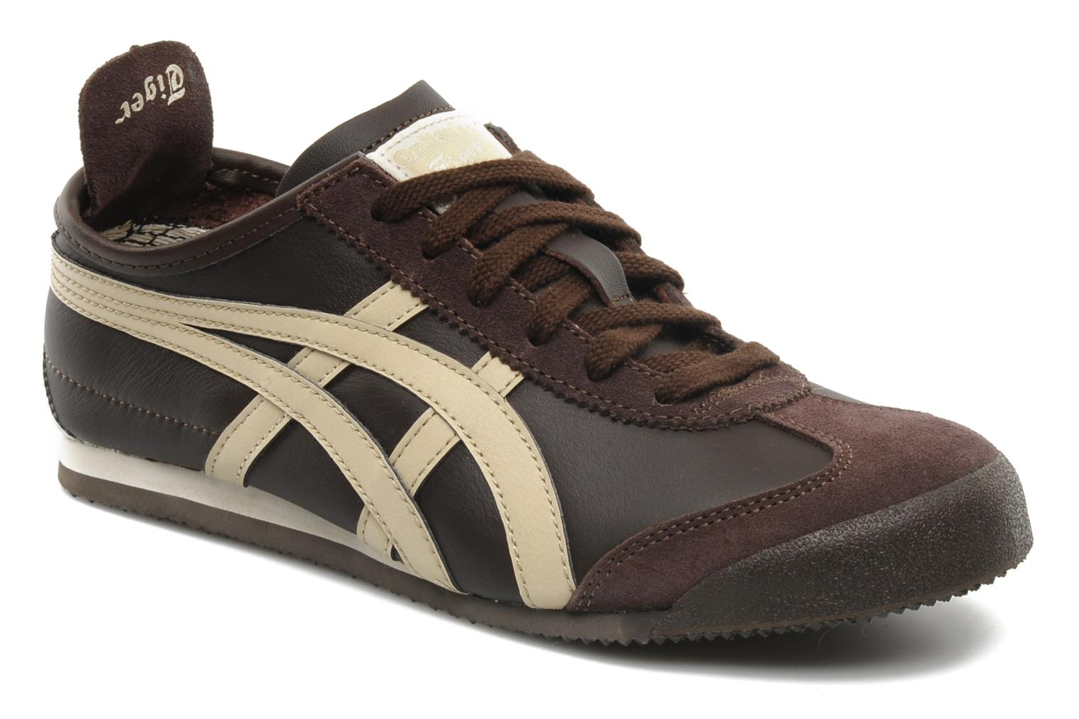 onitsuka tiger mexico 66 trainers in brown at 112398. Black Bedroom Furniture Sets. Home Design Ideas