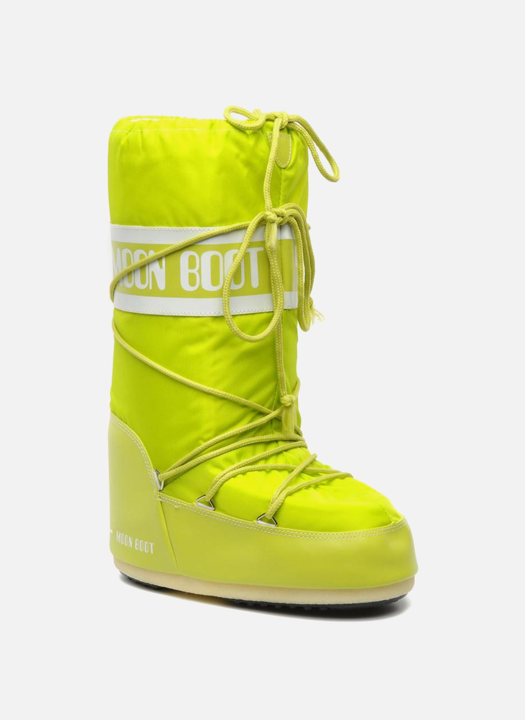 Moon Boot Moon Boot Nylon Sport Shoes In Yellow At Sarenza