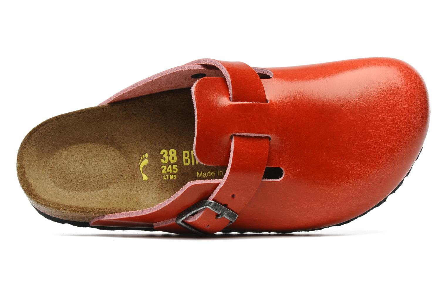 birkenstock boston cuir w rouge mules et sabots chez sarenza 118497. Black Bedroom Furniture Sets. Home Design Ideas