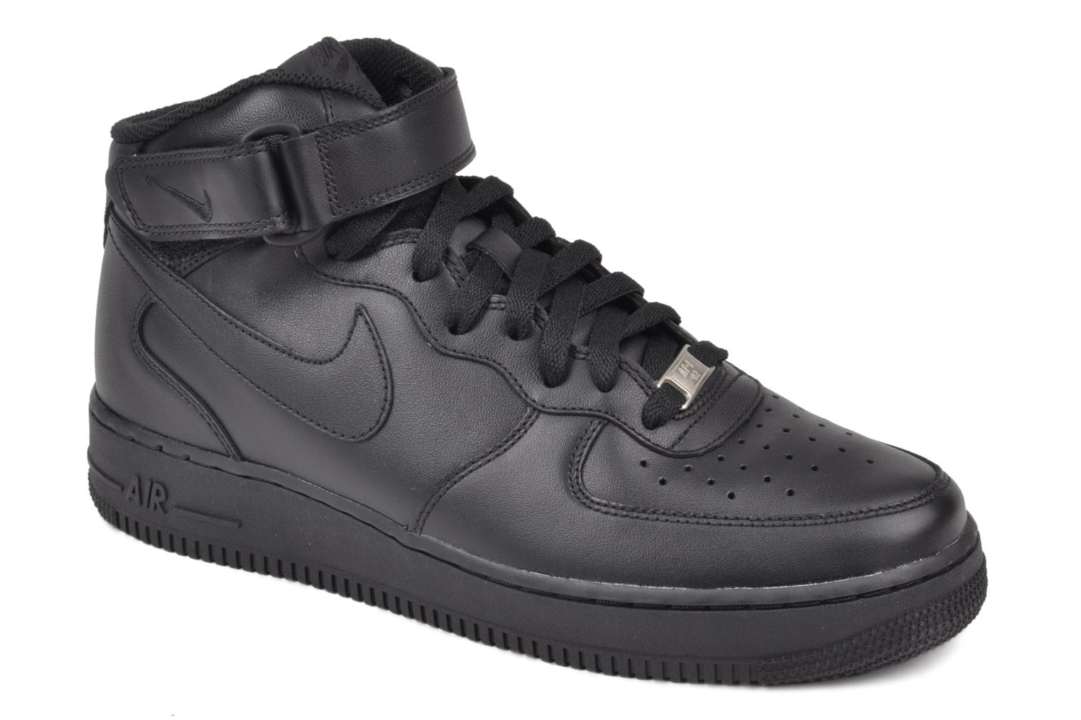 nike air force 1 mid noir baskets chez sarenza 28178. Black Bedroom Furniture Sets. Home Design Ideas