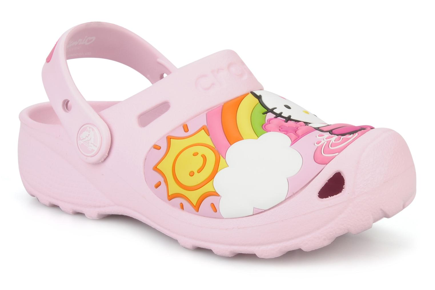 Crocs Hello kitty fun rain or sun custom clog Sandals in Pink at Sarenza co u