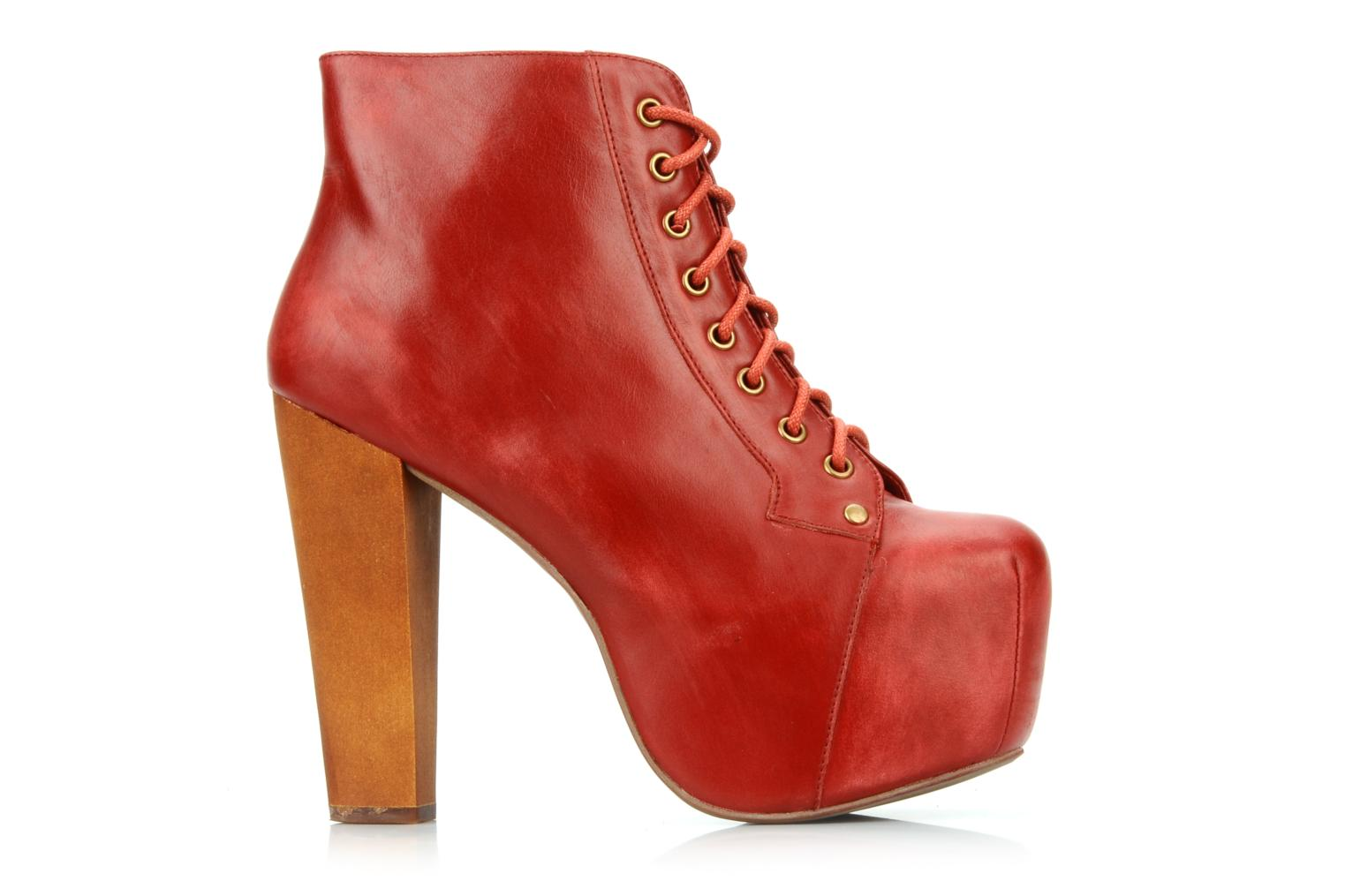 jeffrey campbell lita ankle boots in red at 79471. Black Bedroom Furniture Sets. Home Design Ideas