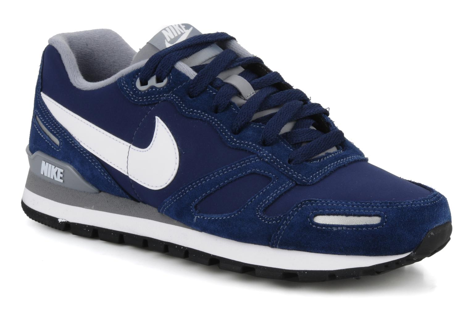 nike air waffle trainer leather trainers in blue at. Black Bedroom Furniture Sets. Home Design Ideas