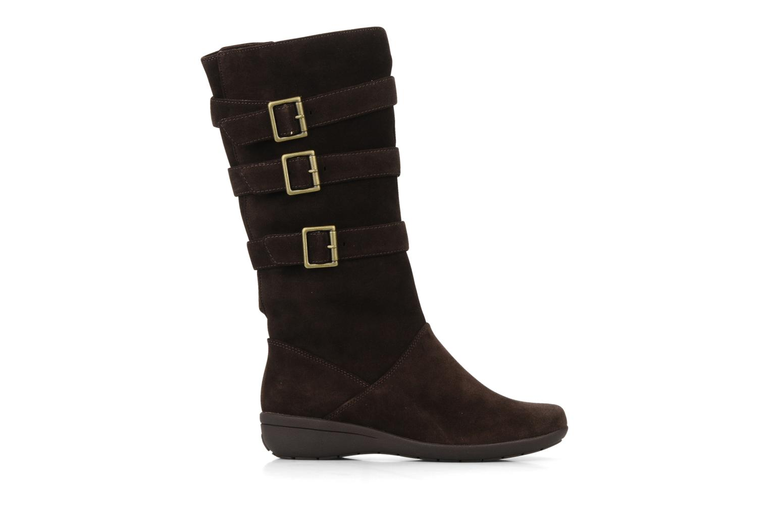 clarks mazy fresco boots wellies in brown at