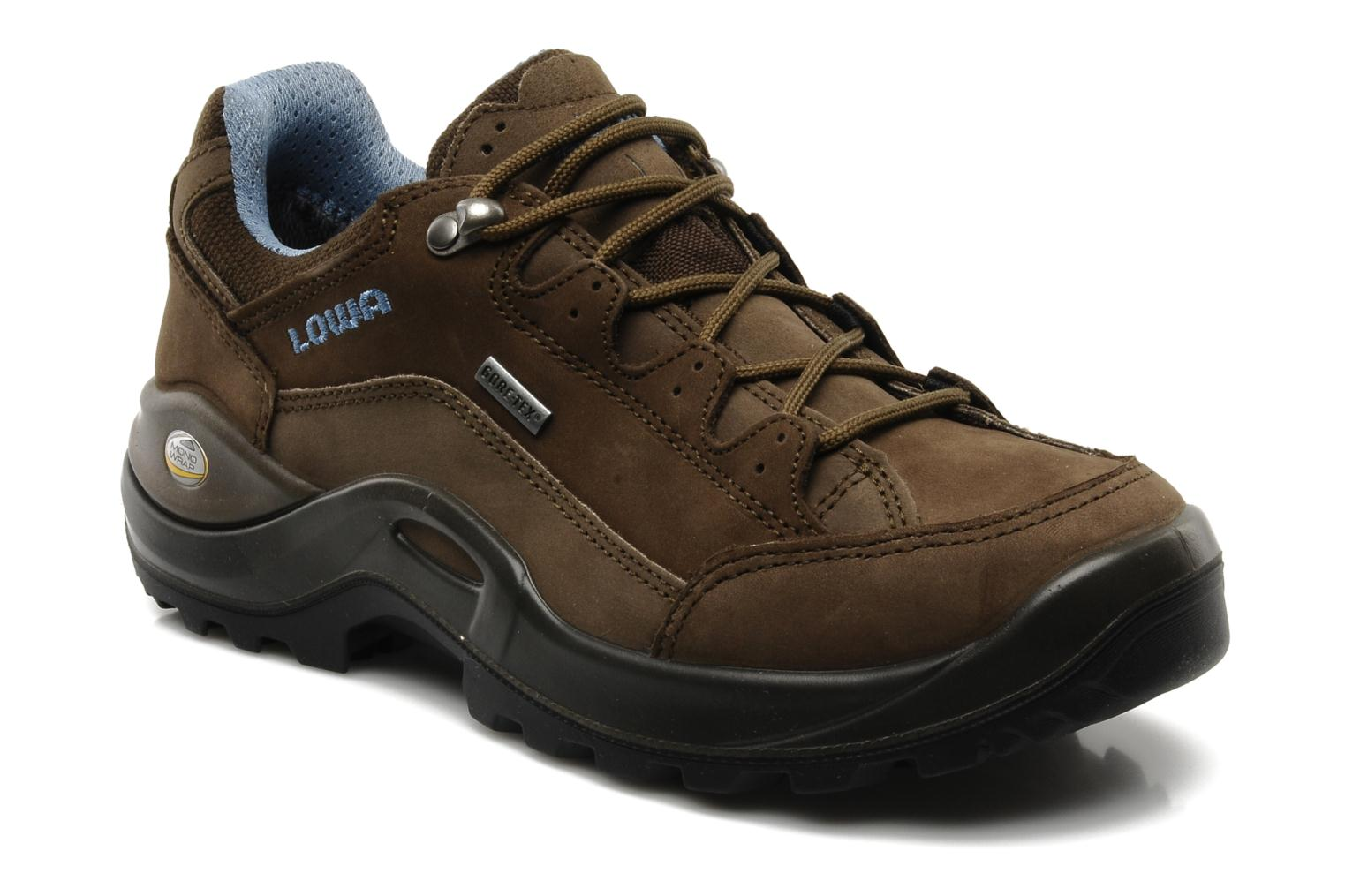 lowa renegade ii gtx lo w sport shoes in brown at sarenza. Black Bedroom Furniture Sets. Home Design Ideas