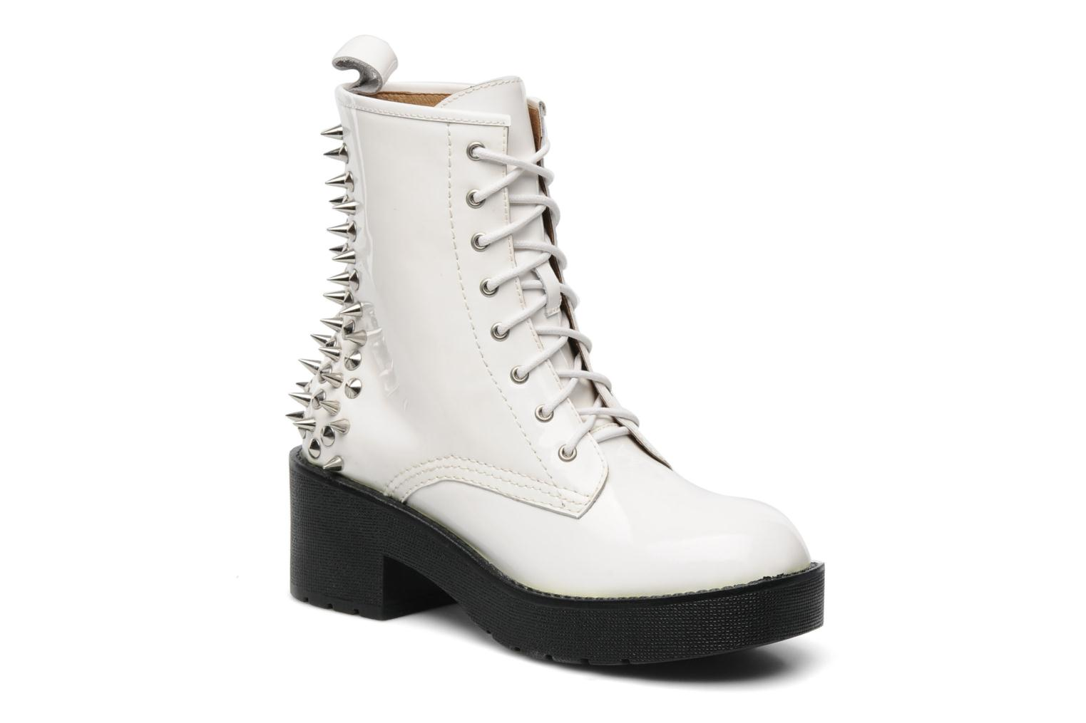 Jeffrey Campbell 8th Street Ankle Boots In White At