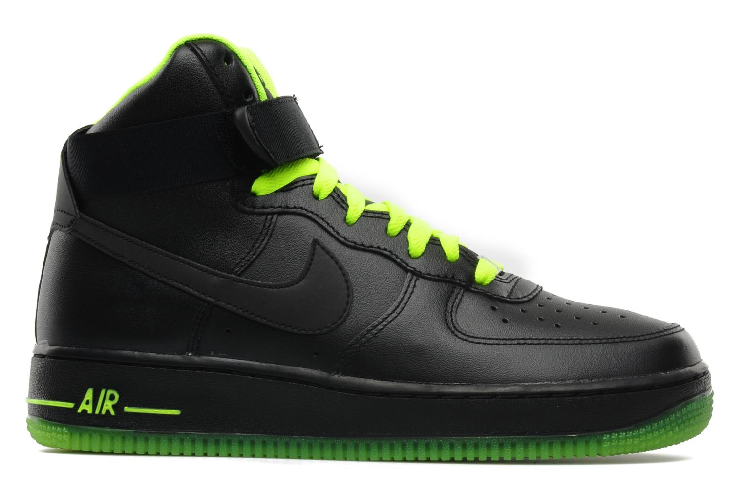 nike air force 1 high 39 07 trainers in black at 113009. Black Bedroom Furniture Sets. Home Design Ideas