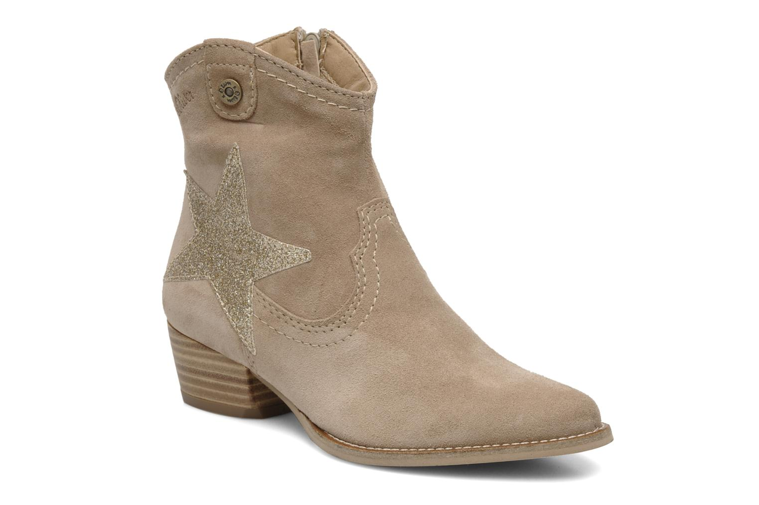 s oliver starlina ankle boots in beige at. Black Bedroom Furniture Sets. Home Design Ideas