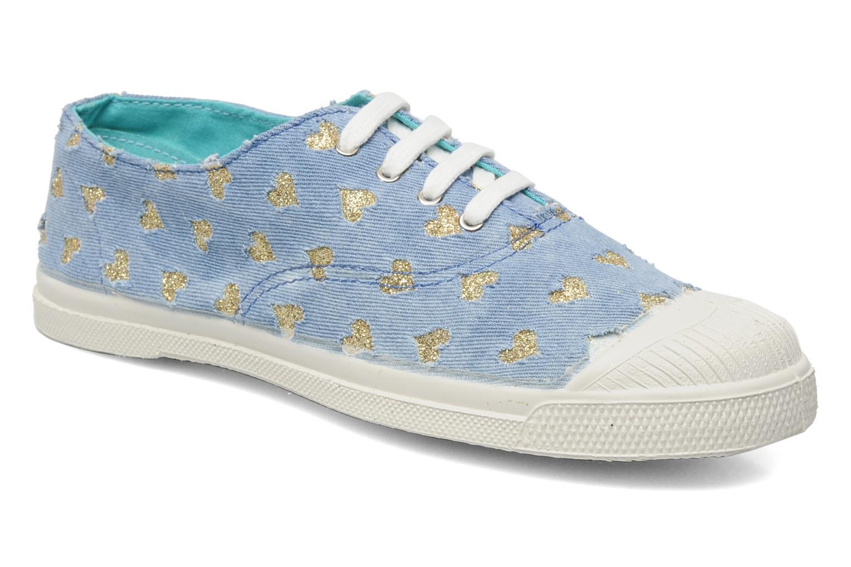 bensimon tennis glitter love bleu baskets chez sarenza 131945. Black Bedroom Furniture Sets. Home Design Ideas