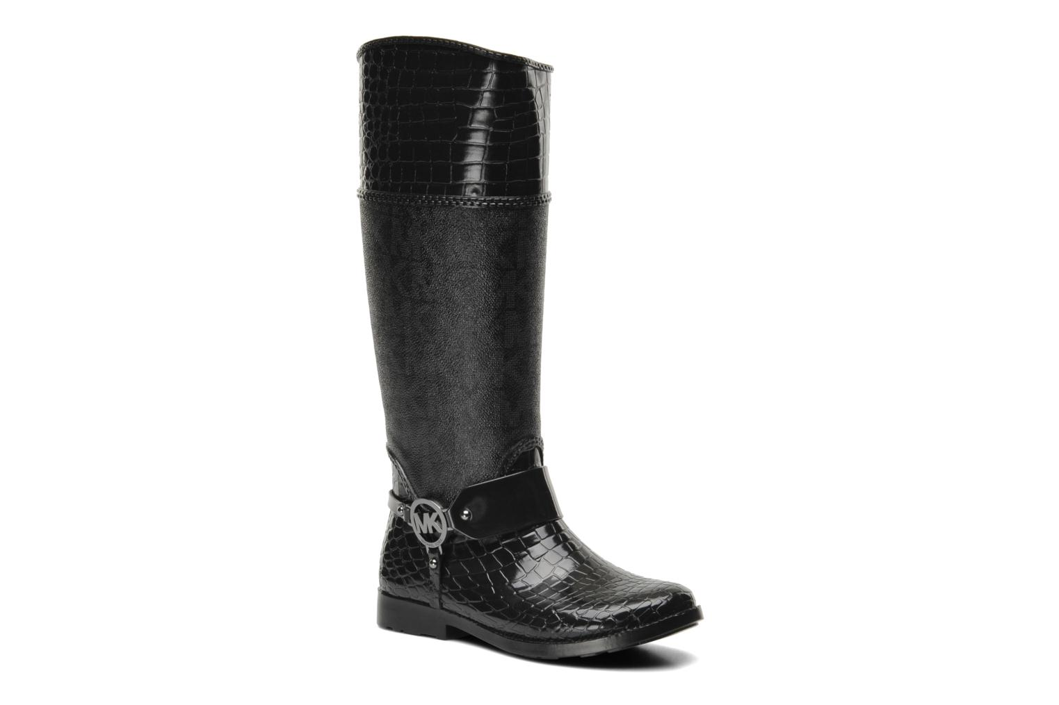 michael michael kors mk croco tall rainboot schwarz. Black Bedroom Furniture Sets. Home Design Ideas