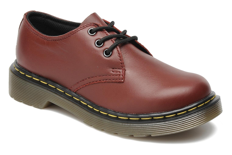 dr martens lace shoe juniors bordeaux chaussures lacets chez sarenza 154317. Black Bedroom Furniture Sets. Home Design Ideas