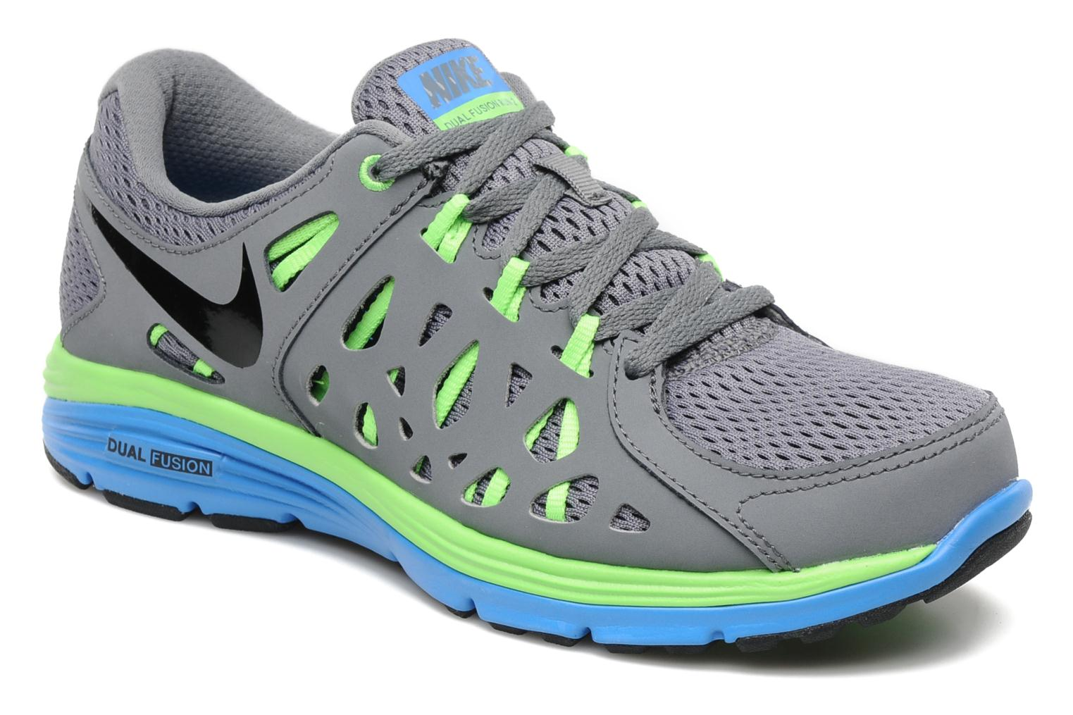 nike nike dual fusion run 2 sport shoes in grey at 158375. Black Bedroom Furniture Sets. Home Design Ideas