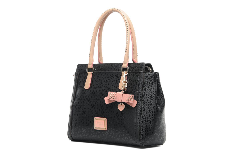 Guess Väskor Nk : Guess specks satchel svart handv?skor p? sarenza