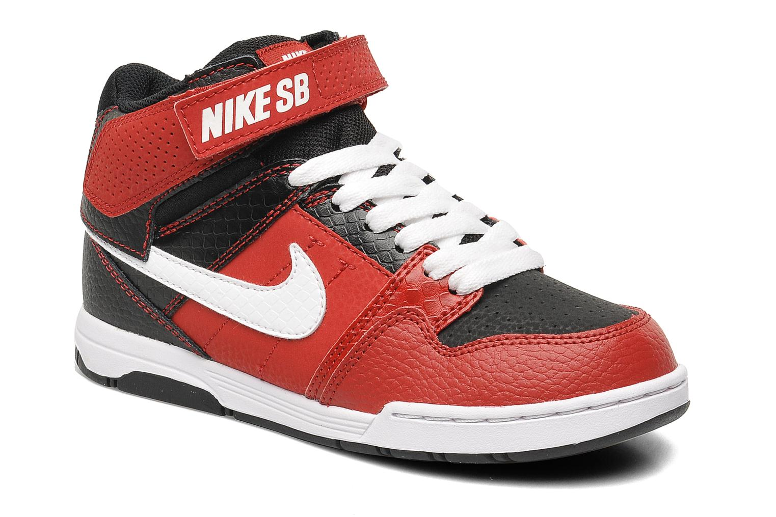 nike mogan mid 2 jr b trainers in red at. Black Bedroom Furniture Sets. Home Design Ideas
