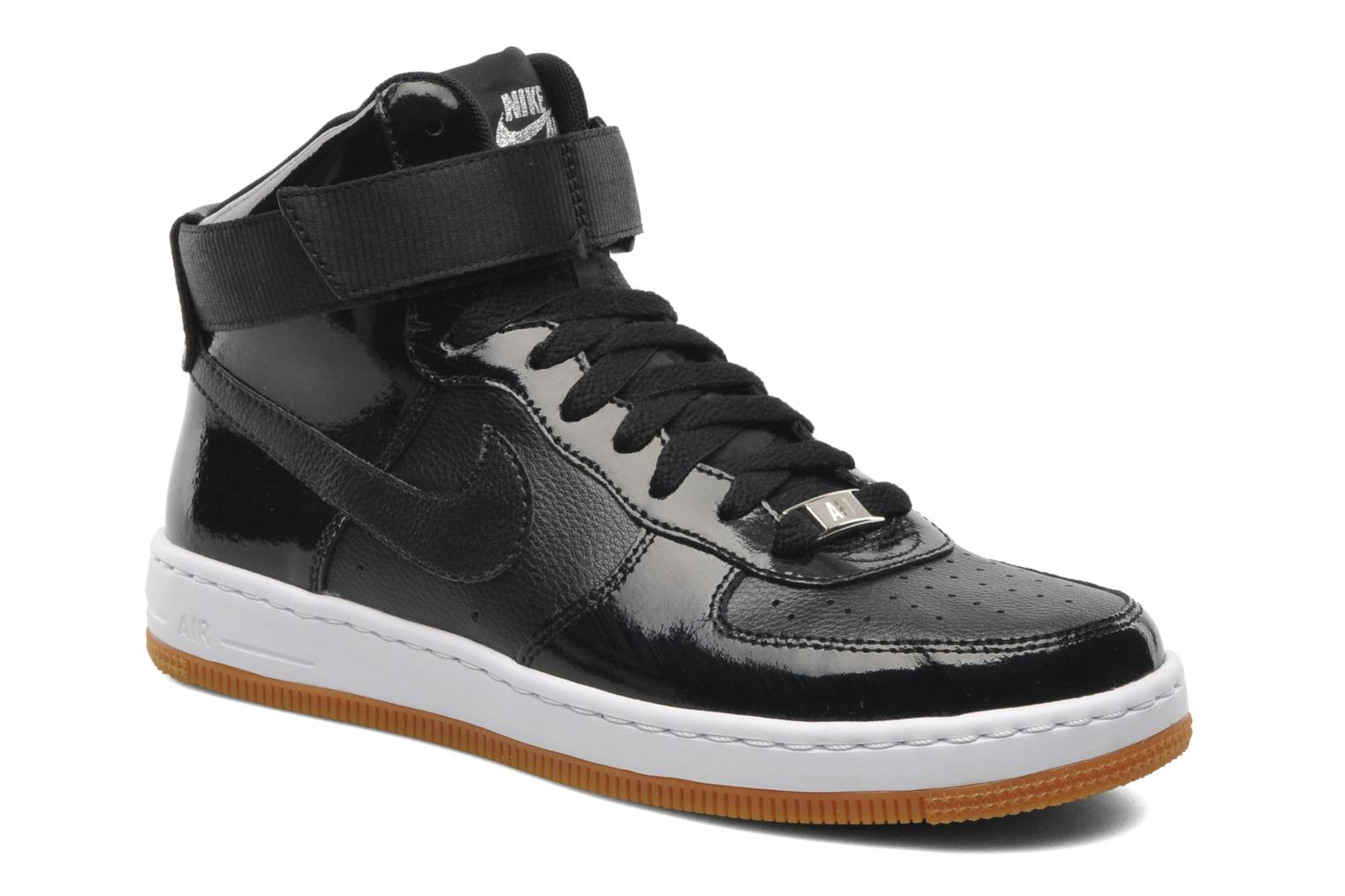 nike w nike air force 1 ultra force mid trainers in black. Black Bedroom Furniture Sets. Home Design Ideas