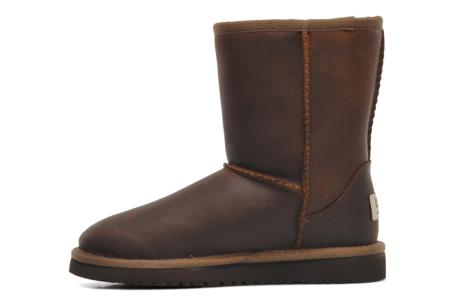 Ugg Australia K Classic Short Leather Ankle boots in Brown ...
