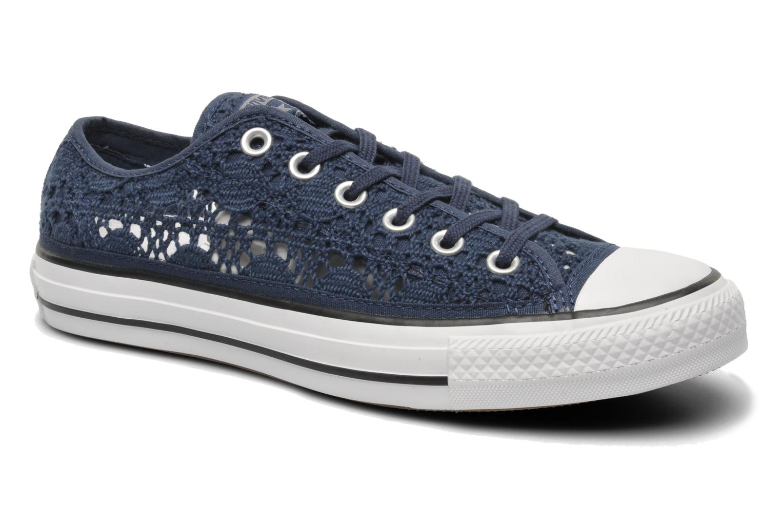 converse chuck taylor all star crochet ox w trainers in blue at 212834. Black Bedroom Furniture Sets. Home Design Ideas