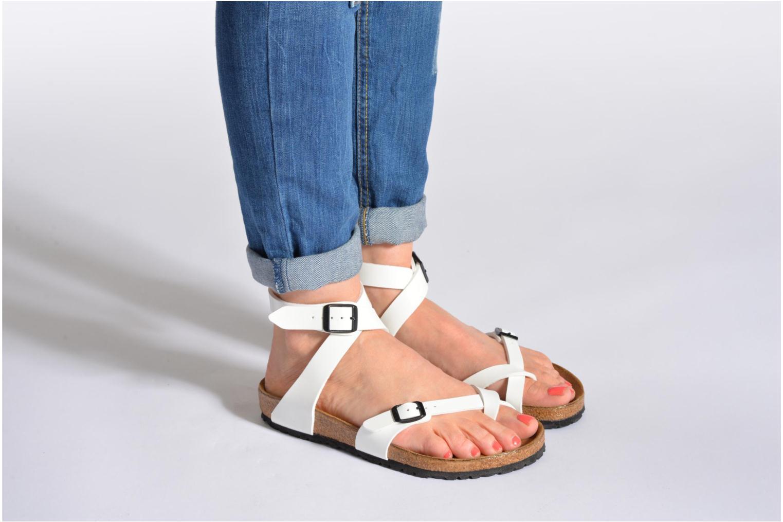 birkenstock yara flor w sandals in white at. Black Bedroom Furniture Sets. Home Design Ideas