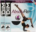 Dim Collant ABSOLU FLEX TRANSPARENT Pack de 2