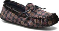 Ruby Brown Velvet tie print moccasin