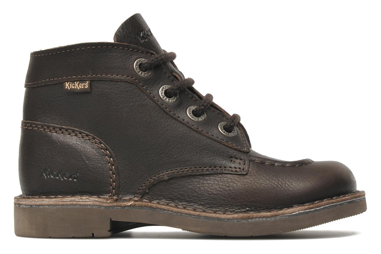 Chaussures à lacets Kickers Kick Col Marron vue derrière