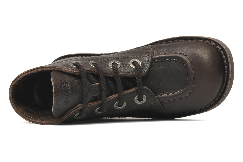 Schnürschuhe Kickers Kick col braun ansicht von links