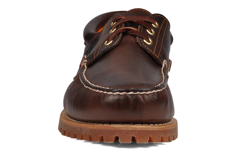 Chaussures à lacets Timberland Authentics FTM 3 Eye Classic Lug Marron vue portées chaussures