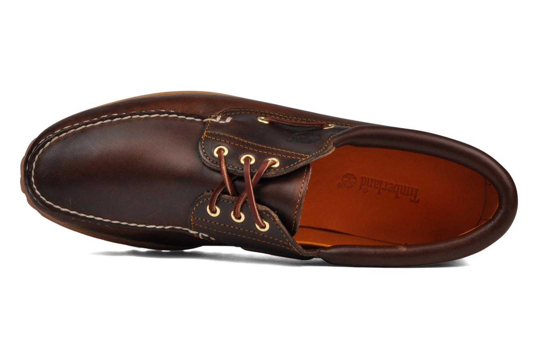 Chaussures à lacets Timberland Authentics FTM 3 Eye Classic Lug Marron vue gauche