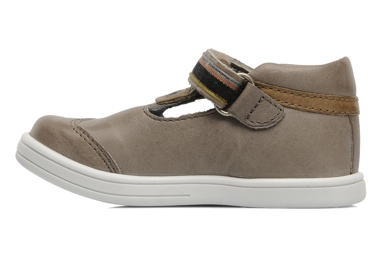Zapatos con velcro Kickers Teo Gris vista de frente
