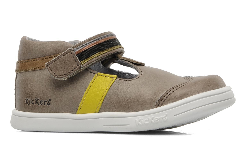 Schoenen met klitteband Kickers Teo Grijs achterkant