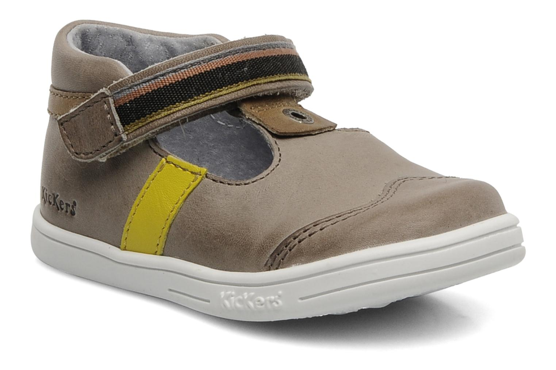 Zapatos con velcro Kickers Teo Gris vista de detalle / par