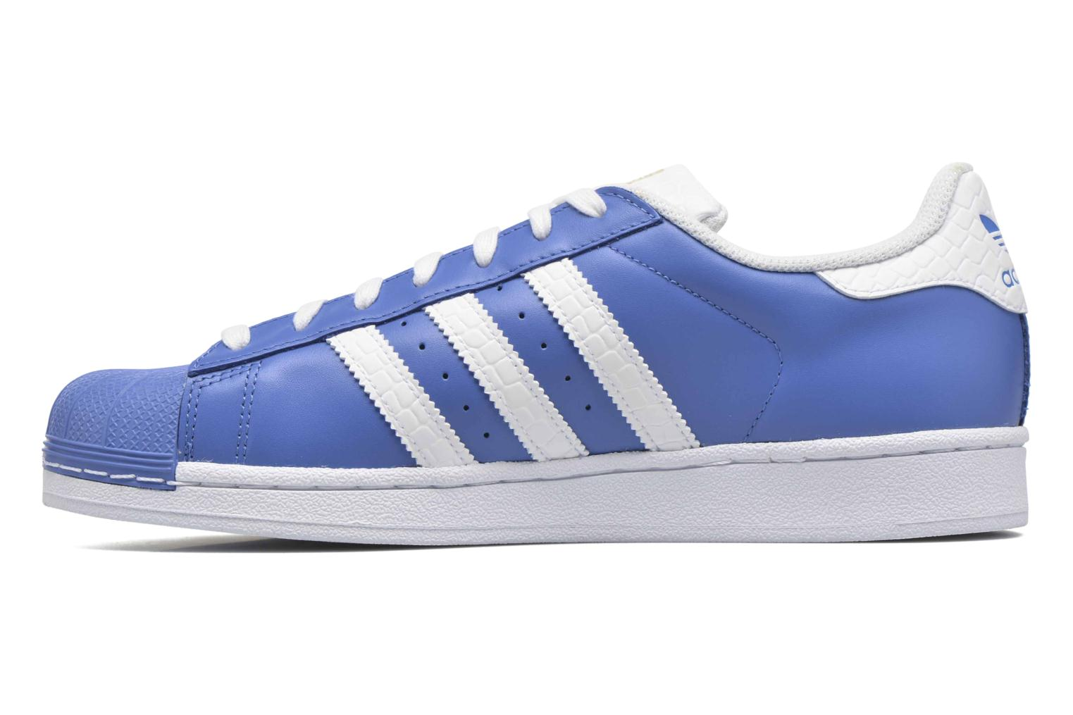Baskets Adidas Originals Superstar Bleu vue face