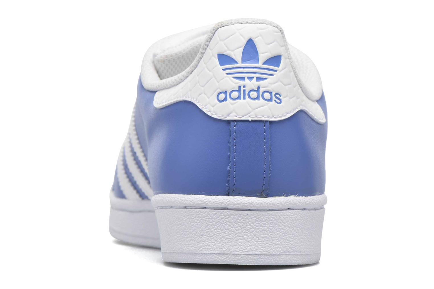 Baskets Adidas Originals Superstar Bleu vue droite