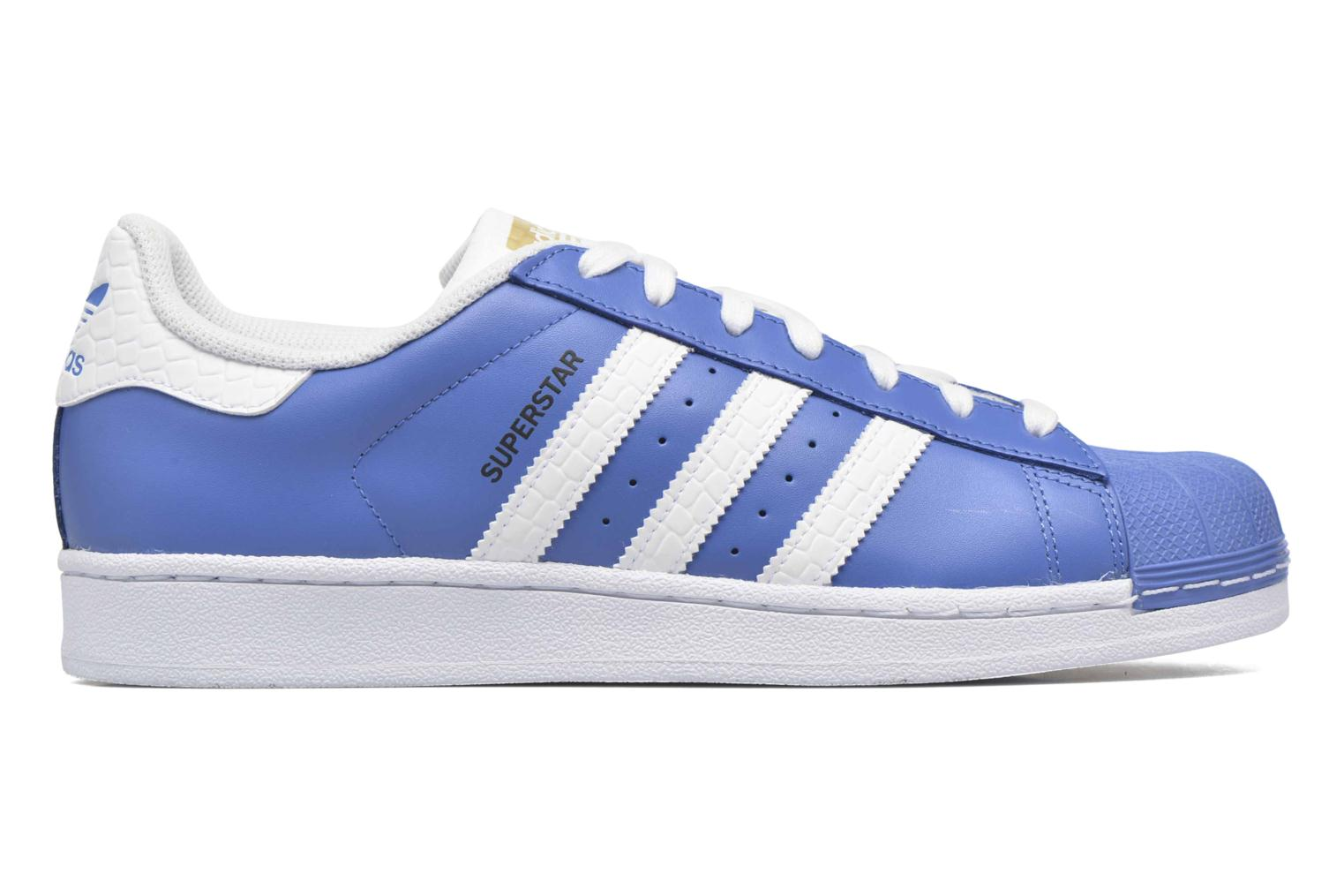 Baskets Adidas Originals Superstar Bleu vue derrière