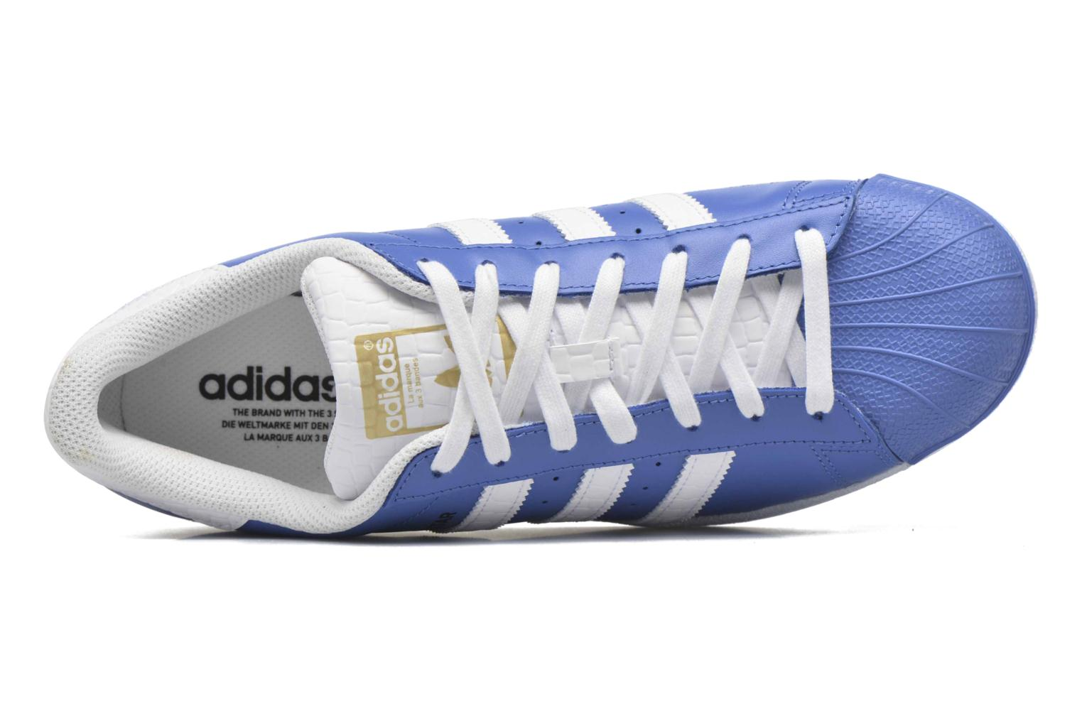 Baskets Adidas Originals Superstar Bleu vue gauche