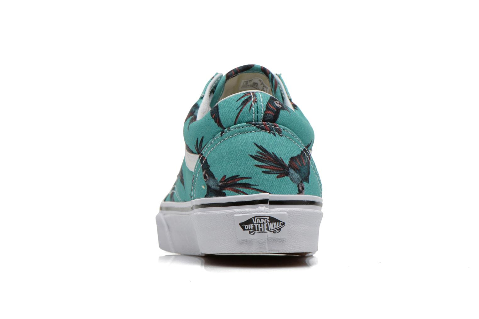 Trainers Vans Old Skool W Green view from the right
