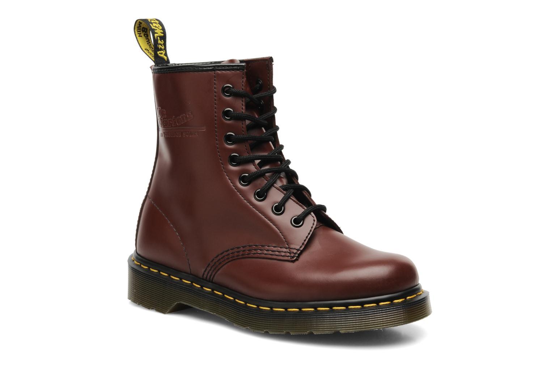 Bottines et boots Dr. Martens 1460 Smooth Rouge vue détail/paire