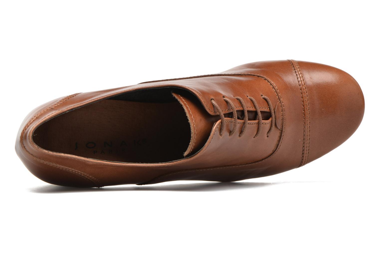Zapatos con cordones Jonak Anna Marrón vista lateral izquierda