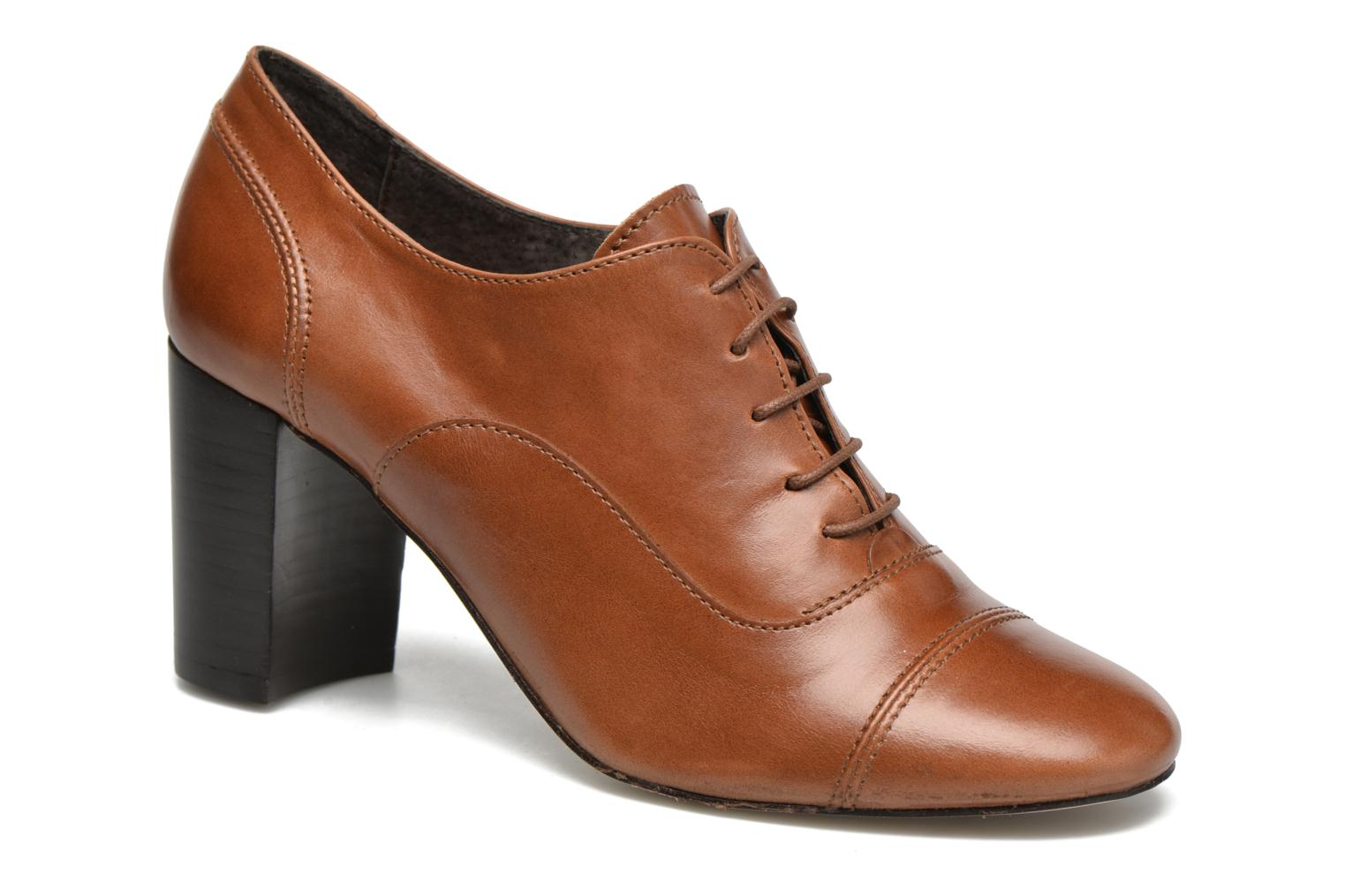 Lace-up shoes Jonak Anna Brown detailed view/ Pair view