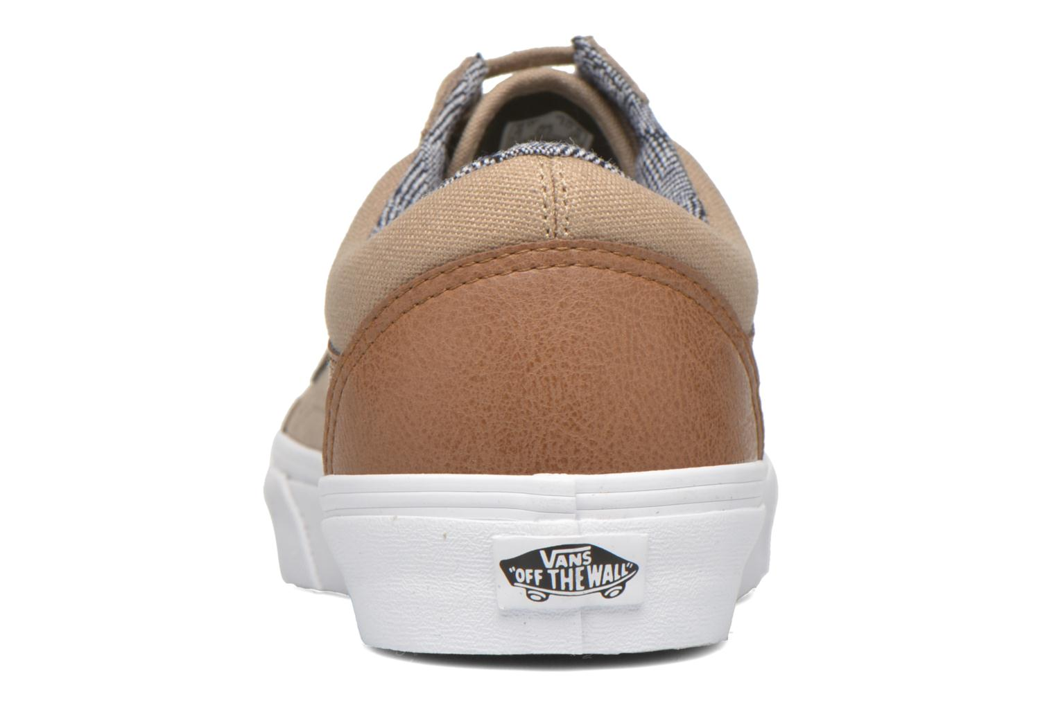 Trainers Vans Old Skool Beige view from the right