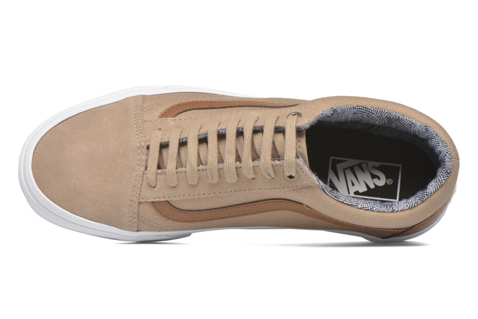 Baskets Vans Old Skool Beige vue gauche