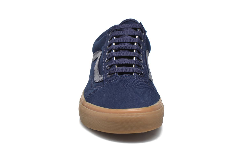 Sneaker Vans Old Skool blau schuhe getragen