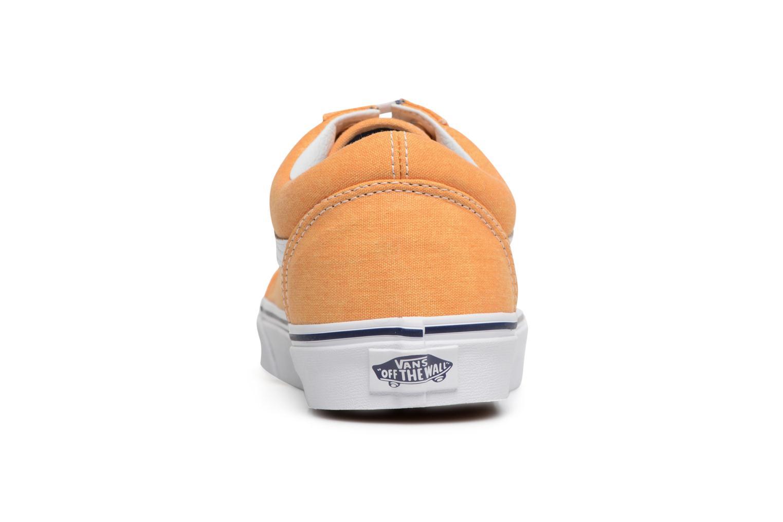 Sneaker Vans Old Skool gelb ansicht von rechts