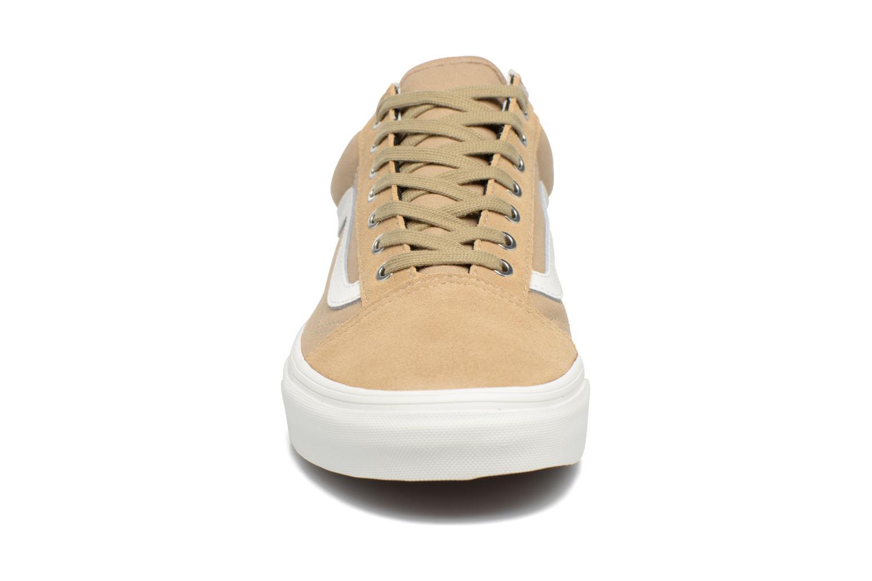Sneaker Vans Old Skool beige schuhe getragen