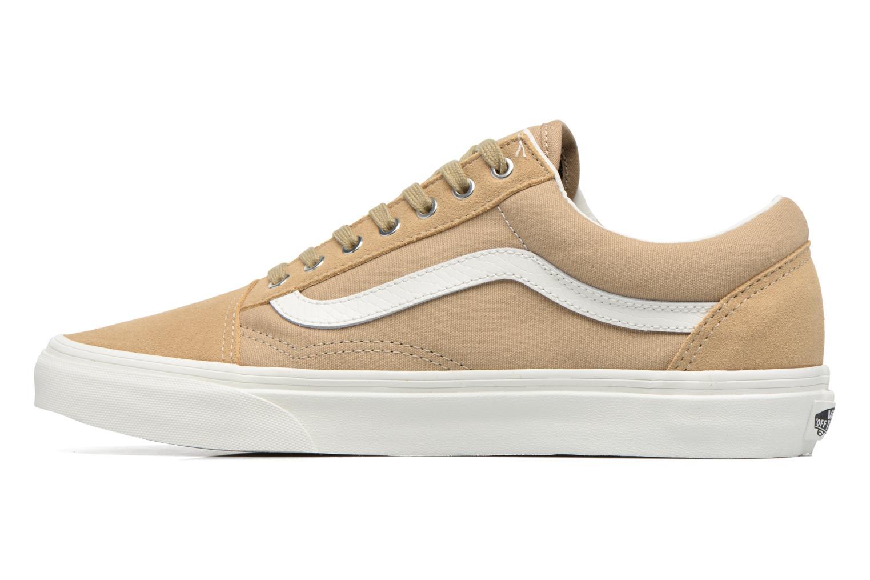 Sneaker Vans Old Skool beige ansicht von vorne