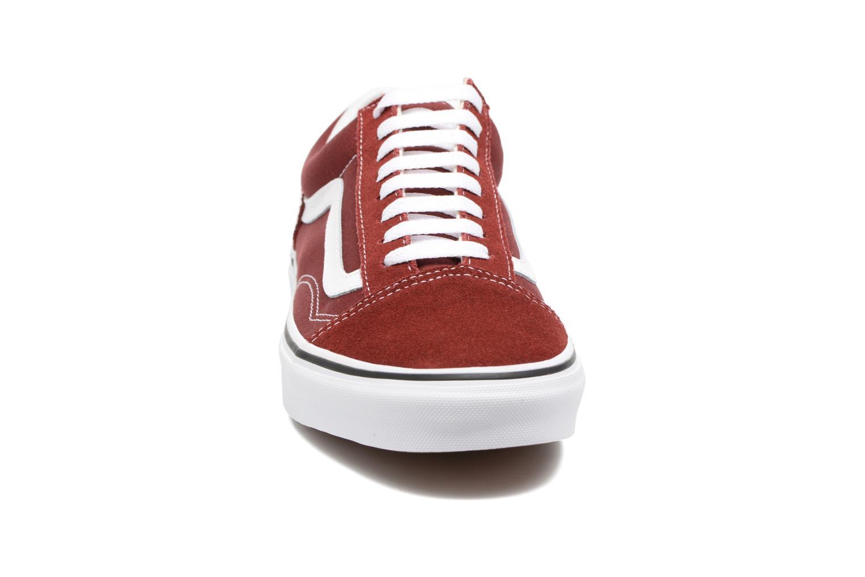 Sneaker Vans Old Skool weinrot schuhe getragen