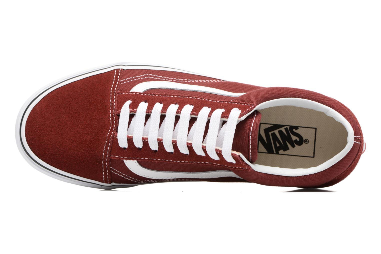 Sneaker Vans Old Skool weinrot ansicht von links
