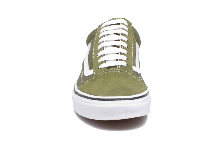 Sneaker Vans Old Skool grün schuhe getragen