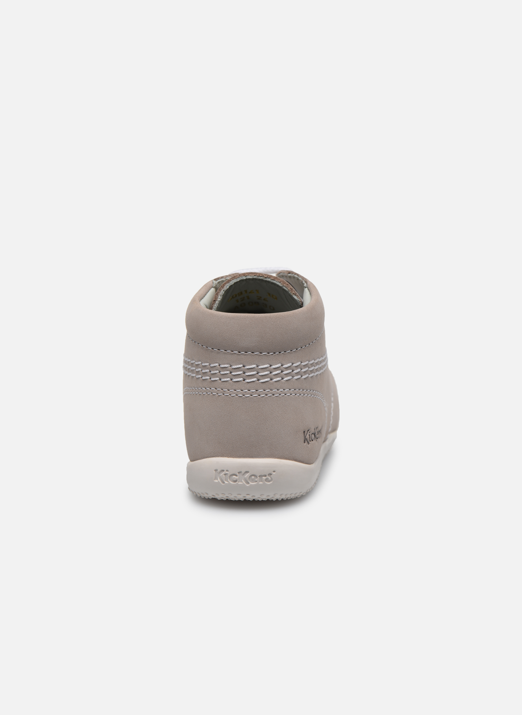 Chaussures à lacets Kickers Billy Gris vue droite