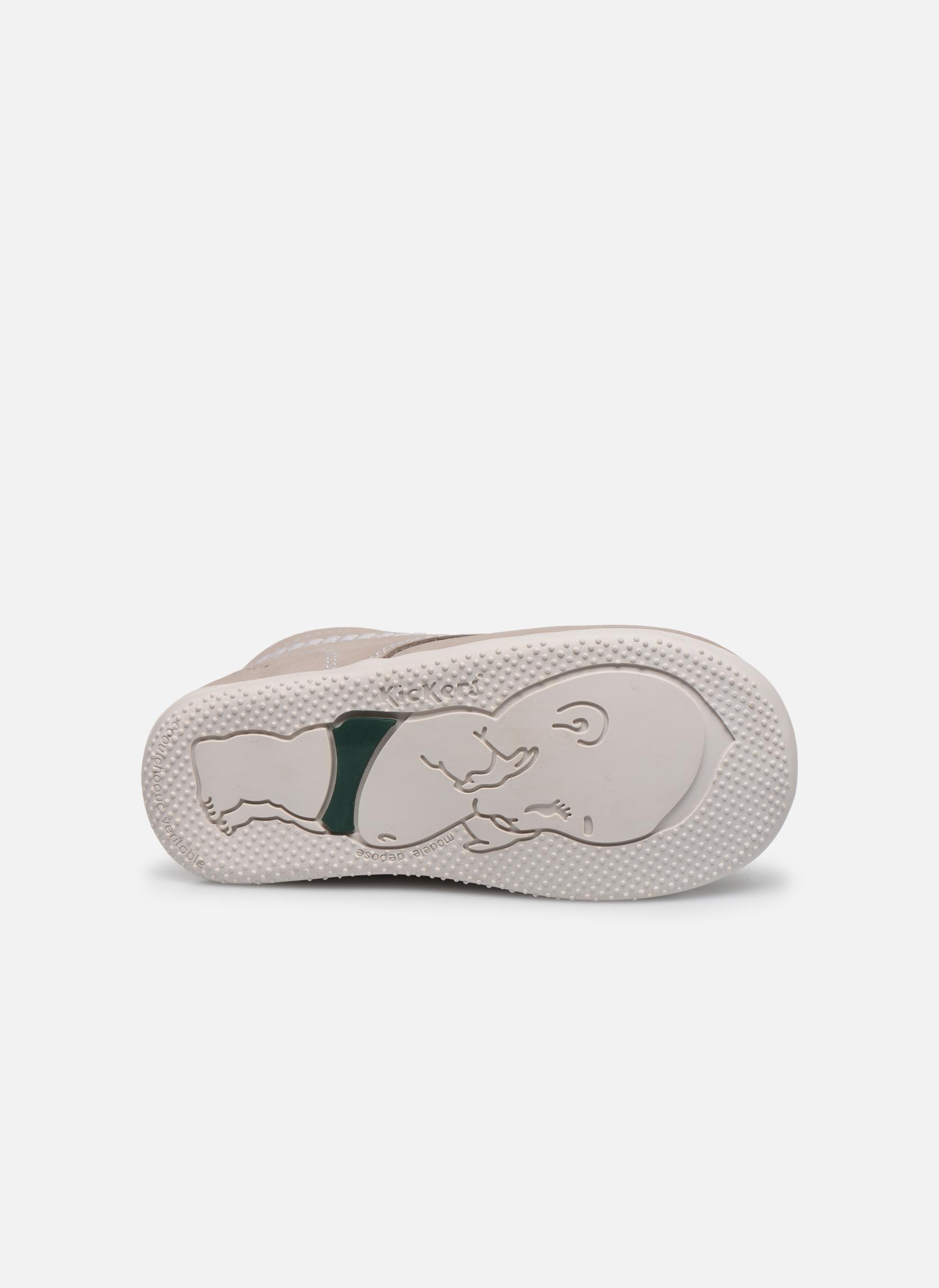 Chaussures à lacets Kickers Billy Gris vue haut